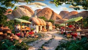 """Village en pain de Carl Warner .... dans l'article """"se vend comme des petits pains"""" sur savour.eu"""