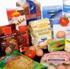 les produits d'alimentation dans les expressions
