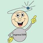 Express ION mascotte couleur texte noir 150 150