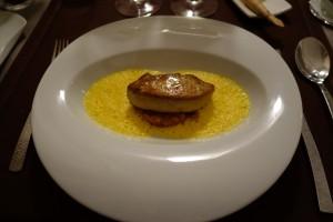 04_Restaurant lessentiel Perigueux_foie gras poellé sur chutney butternut et velouté courge muscade