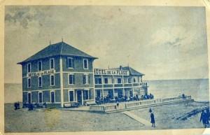 hotel de la plage Biscarrosse ancienne photo