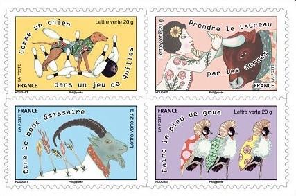 carnet de timbres Prendre le taureau par les cornes