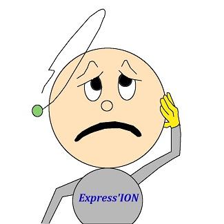 Notre mascotte Express'ION semble être dans le pâté