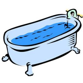 mettre de l'eau dans son bain sur savour.eu