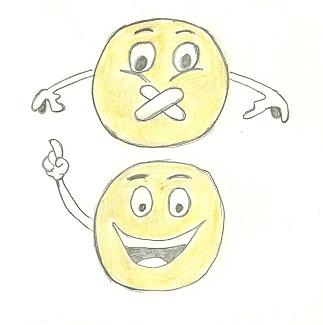 illustration originale de l'expression j'dis ça j'dis rien sur le site savour.eu