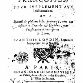 Antoine Oudin sur le site savour.eu