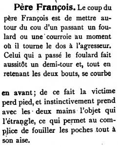 Le coup du Père François définition du Rossignol 1901