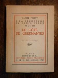 être en nage dans à la recherche du temps perdu de Marcel Proust