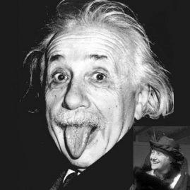 Einstein et son épouse Elsa qui n'était pas la moitié d'un imbécile