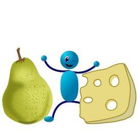 Entre la poire et le fromage expression française