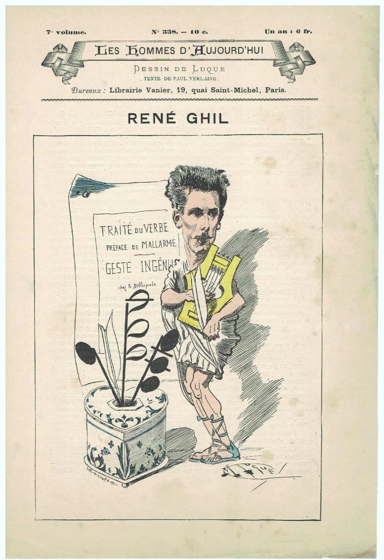 Jeune loup - biographie René Ghil - Verlaine - 1888