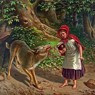 la faim fait sortir le loup du bois