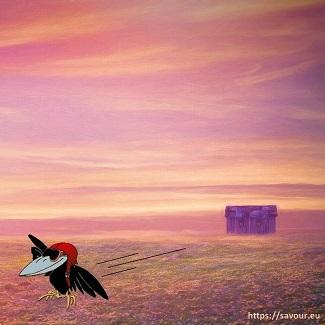 ravitaillé par les corbeaux