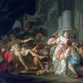 se saigner aux quatre veines - mort de Seneque - David - 1773