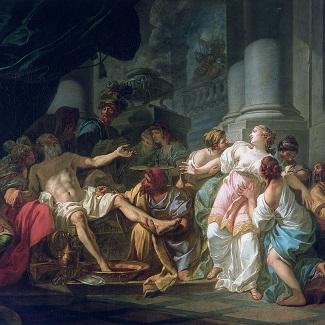 """""""La mort de Sénèque"""", tableau de DAVID peint en 1773"""