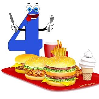 manger comme quatre - expressions avec le chiffre quatre
