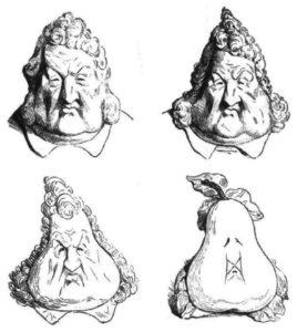 Se payer la poire de quelqu'un - caricature de Louis Philippe Par Daumier